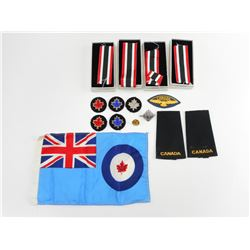 CANADIAN MILITARY RIBBONS, BADGES AND ITEMS