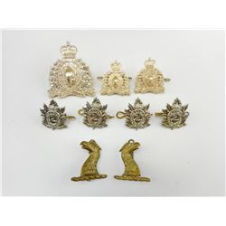 ASSORTED BRITISH/CANADIAN CAP & COLLAR BADGES