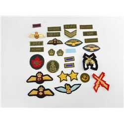 ASSORTED CANADIAN & MILITARY BADGES