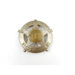 ANTIQUE PORTLAND (OREGON) POLICE CIRCULAR CHEST BADGE