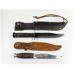 MILITARY -TYPE JAPANESE MADE KNIVES WITH SHEATHS