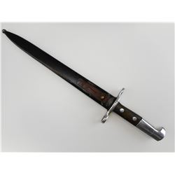 SWISS 1918 KNIFE BAYONET WITH SCABBARD