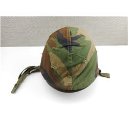 U.S. HELMET WITH CAMO COVER & LINER