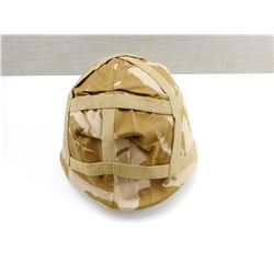 MILITARY HELMET WITH CAMO COVER