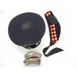 POLICE OFFICER CAP, GLENGARRY & SHOULDER BADGES