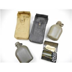 WWII MESS KITS WITH CANTEEN & CLEANING KIT