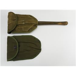 U.S. ENTRENCHING TOOL WITH (2) SHEATHS