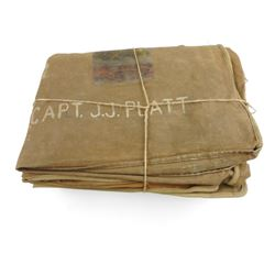 WWII CANADIAN MILITARY CANVAS BLANKET COVER