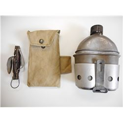 WWII U.S. CANTEEN & STOVE WITH MULTI-TOOL CUTLERY