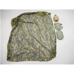 SOLDIER SCREEN CAMOUFLAGE, CANTEEN & KNEE PADS