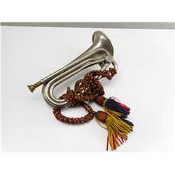 CANADIAN MILITARY BUGLE WITH BRAID