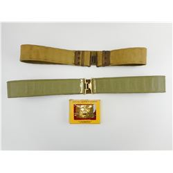 MILITARY CANVAS BELTS & BUCKLE