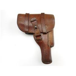 GERMAN WWII LEATHER HOLSTER FOR 7.65MM HANDGUN