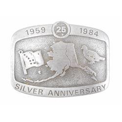 ALASKIAN 1950-1984 SILVER ANNIVERSARY BUCKLE