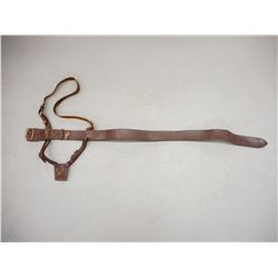 BROWN LEATHER BELT WITH SWORD FROG