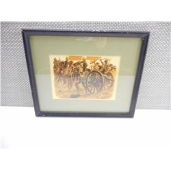 FRAMED PRINT FROM AFGHAN WAR 27TH JULY 1880