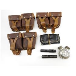 ASSORTED RUSSIAN SKS POUCHES WITH ACCESSORIES