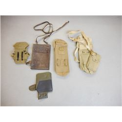ASSORTED POUCHES & CASES