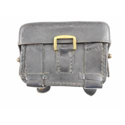 BLACK LEATHER MILITARY AMMO POUCH