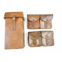ASSORTED LEATHER POUCHES
