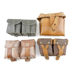 ASSORTED WWII ERA+ AMMO POUCHES