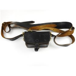 BLACK LEATHER CASE WITH BELT