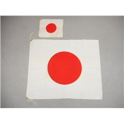 WWII JAPANESE RIFLE FLAGS