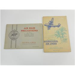 WILLS & PLAYER'S ALBUMS- AIR RAID PRECAUTIONS & INTERNATIONAL AIR LINERS