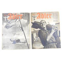 WWII ERA DER ADLER MAGAZINES
