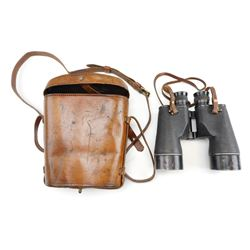 CANADIAN WWII & REFURBISHED R.E.L. BINOCULARS WITH CASE