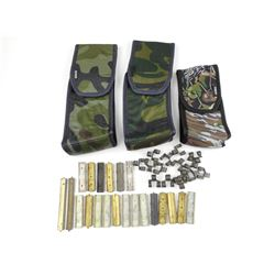 ASSORTED STRIPPER CLIPS, AMMO LINKS & MAGAZINE POUCHES
