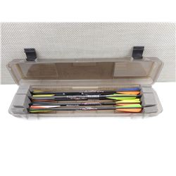 ASSORTED BOLTS IN CROSSBOW BOLT CASE