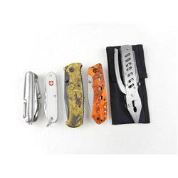 ASSORTED FOLDING KNIVES & MULTI-TOOLS