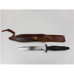 GERBER DOUBLED EDGED DAGGER WITH SHEATH