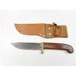 SAW BACK FIXED BLADE KNIFE WITH SHEATH