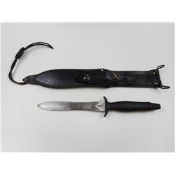 GERBER SERRATED DOUBLE EDGED DAGGER WITH SHEATH