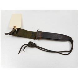 FIGHTING KNIFE WOODEN SHEATH WITH FROG