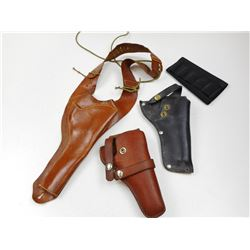 LEATHER HOLSTERS & AMMO SLEEVE