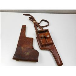 LEATHER MAUSER BROOMHANDLE HOLSTERS