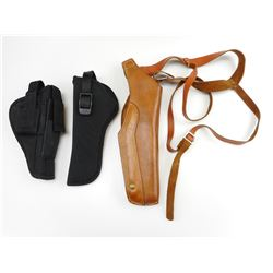 ASSORTED CANVAS & LEATHER HOLSTERS