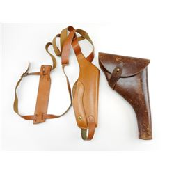 ASSORTED POLICE ISSUE LEATHER HOLSTERS