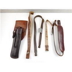 ASSORTED LEATHER SLINGS & HOLSTER