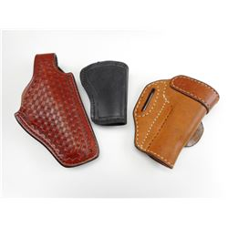 ASSORTED LEATHER HOLSTERS