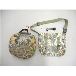 CAMO SATCHEL & CUSHION WITH SCOPE RINGS