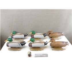 ASSORTED DUCK DECOYS WITH WIEGHTS & CORD