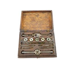 DIAMOND A. PLATE DIES & TAPS WITH WRENCH IN BOX