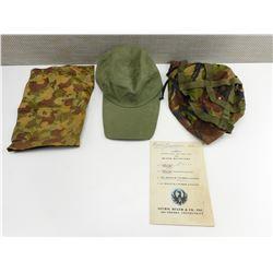 GREEN HAT, DOG COAT & RUGER MANUAL