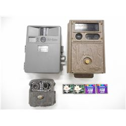 ASSORTED TRAIL CAMERAS & COMPACT FLASH CARDS