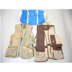 BROWNING SHOOTING VEST WITH GLASSES & DUFFLE BAG
