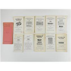 ASSORTED CARTRIDGES FOR COLLECTORS GUN BOOKS